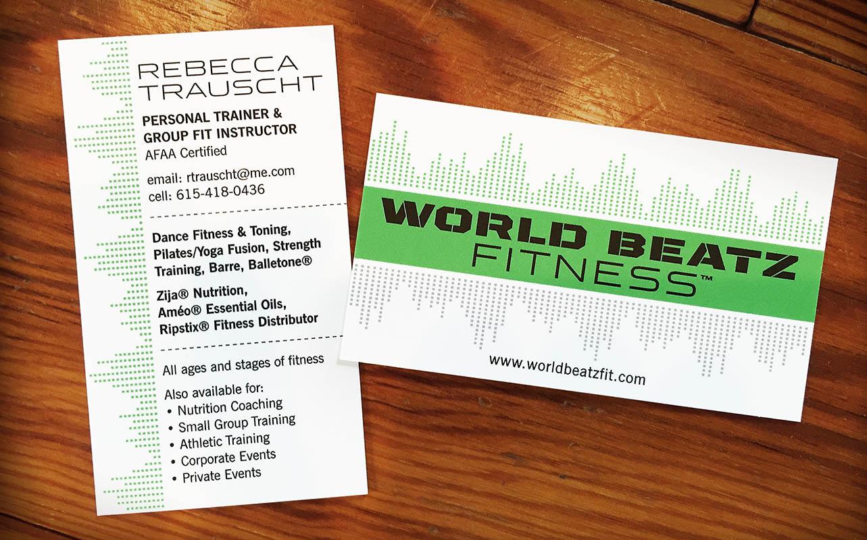 WorldBeatz Fitness Business Card