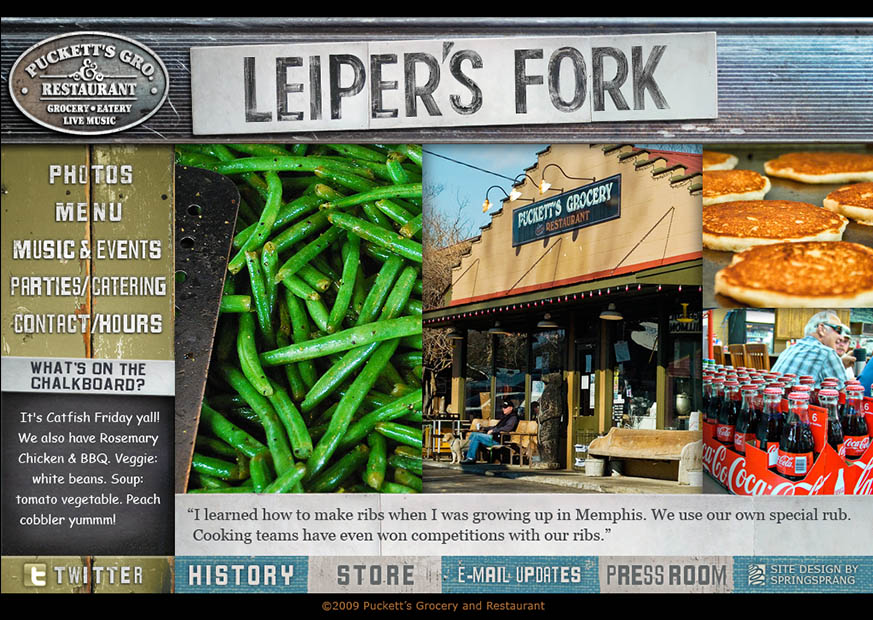 Leiper's Fork page