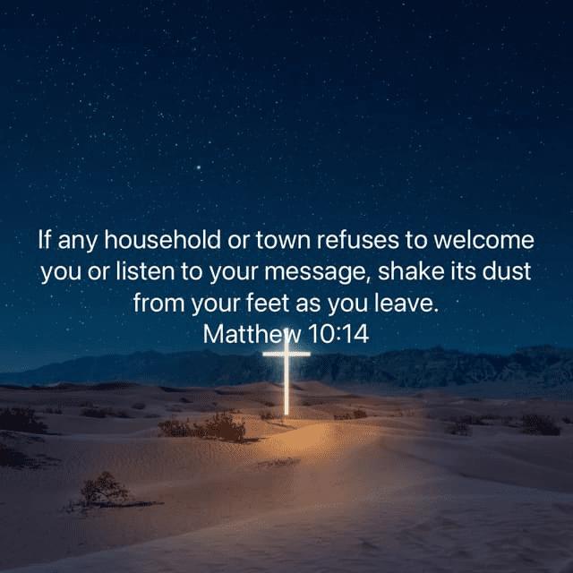 Matthew 10:14