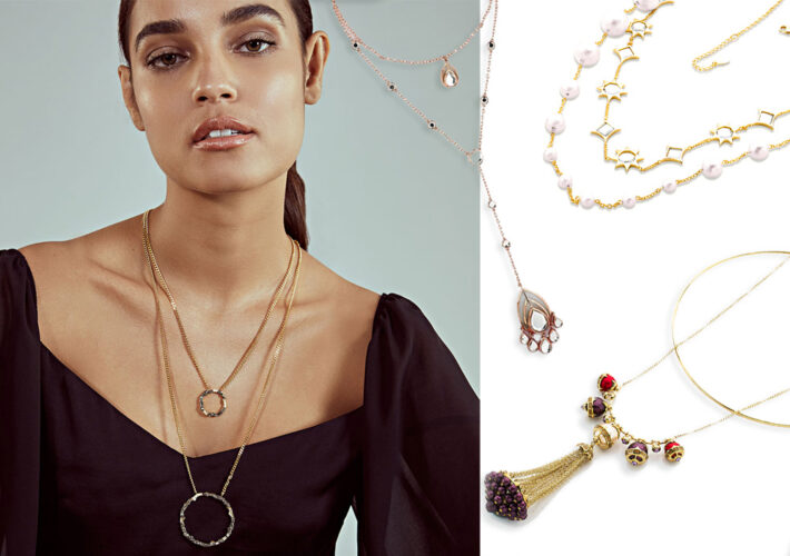 layered necklace trend - modern indian jewelry - 001