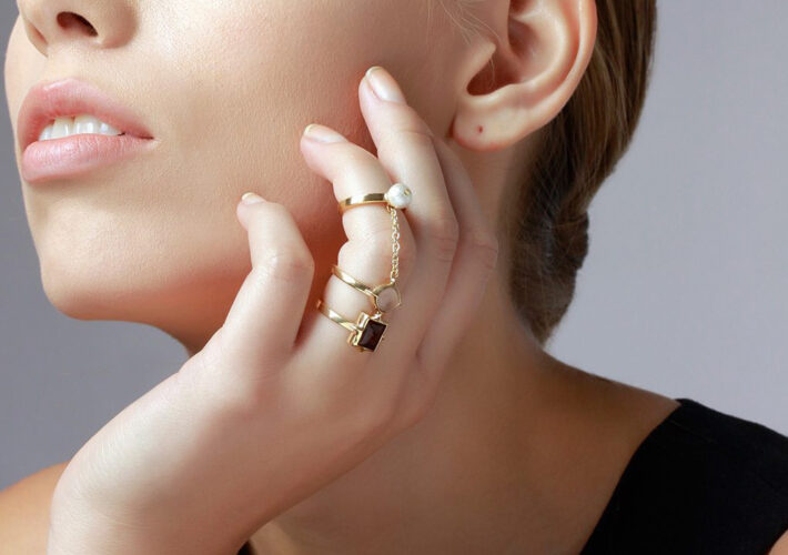 Bold Modern Cocktail Rings - Modern Indian Jewelry - 001