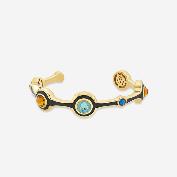 Jewely You Can Travel With - Glitter On The Go Minimal Multi-Color Cuff