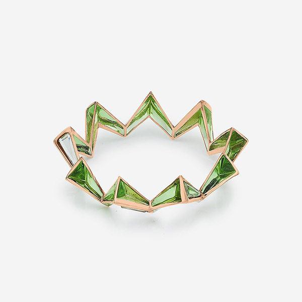 Indian Jewelry With the Hottest Fall 2019 Color Trends - Green - Bombay Deco Green Resin Mirror Bangle