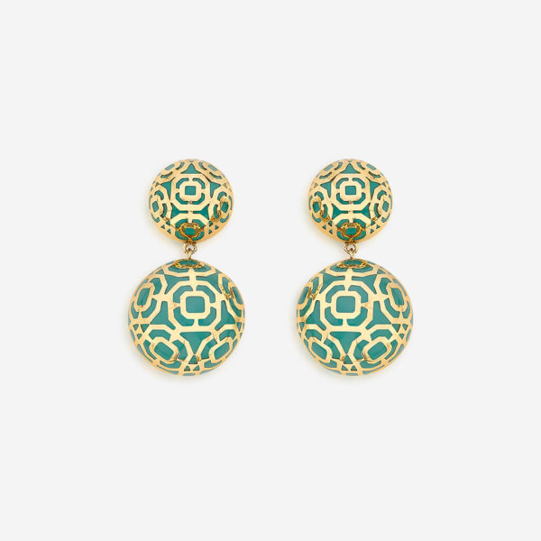 Indian Jewelry With the Hottest Fall 2019 Color Trends - Green - Noor Amazonite Circle Earrings