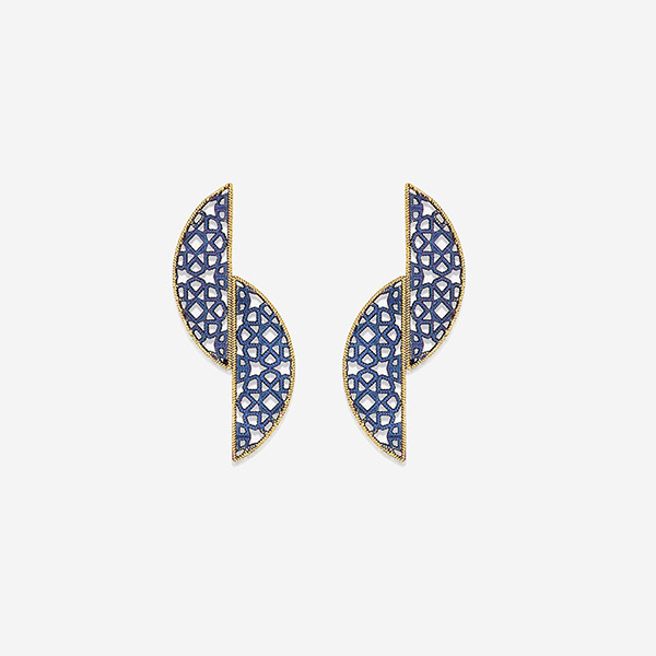 Indian Jewelry With the Hottest Fall 2019 Color Trends - Purple - Bulletproof Titanium Filigree Earrings