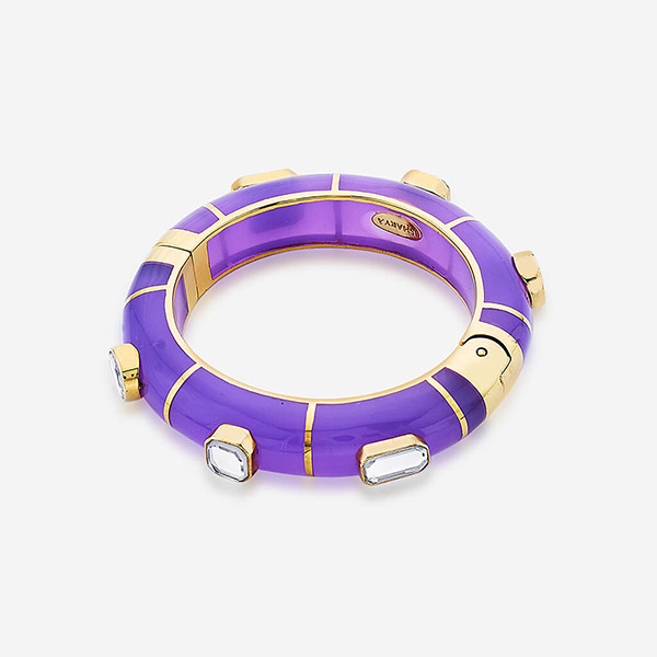 Indian Jewelry With the Hottest Fall 2019 Color Trends - Purple - Noor Purple Hinged Bangle