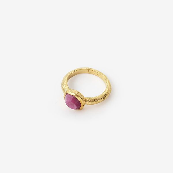 Indian Jewelry With the Hottest Fall 2019 Color Trends - Purple - Orchid Goddess Band Ring