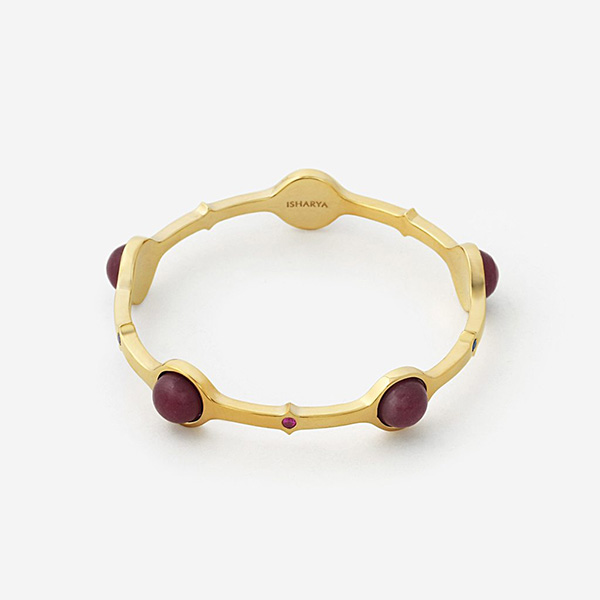 Luxe Fall Jewelry Trends - Jewel Tones - cuff - Temple Muse Marsala Quartz Stackable Bangle