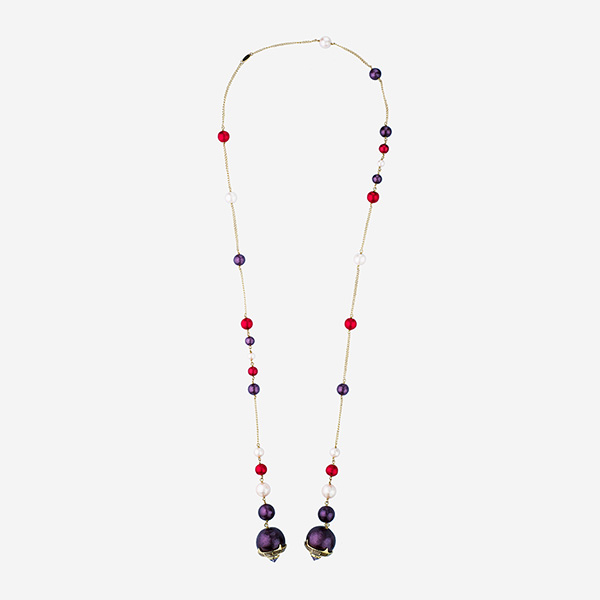 Luxe Fall Jewelry Trends - Jewel Tones - necklace - Empress Warrior Multi Color Pearl Lariat