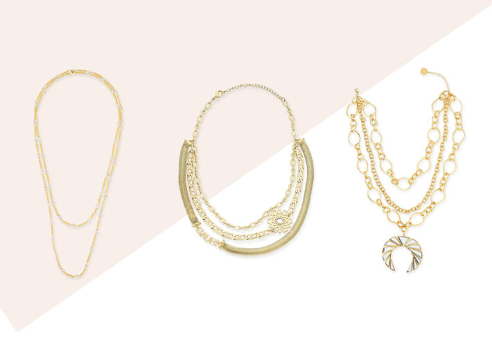 layered necklaces - modern indian jewelry -002