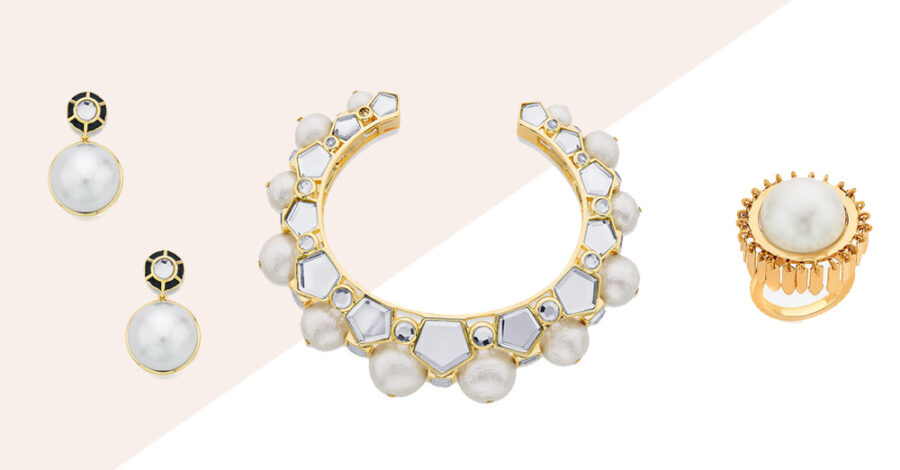 Modern Indian Pearl Jewelry On trend 001