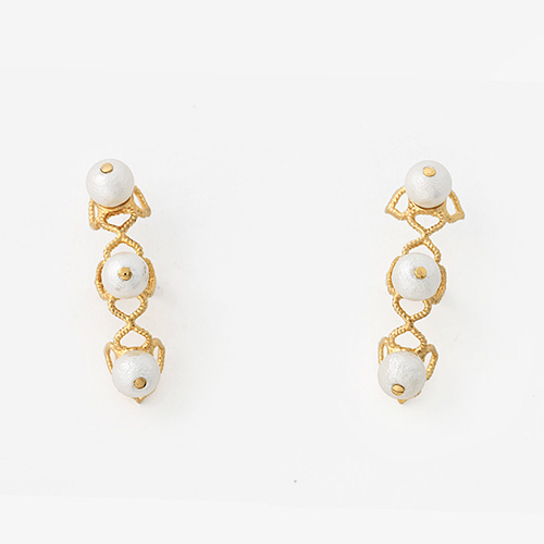 Modern Indian Pearl Jewelry On trend - Accents - Temple Muse Pearl Earcuff Earrings