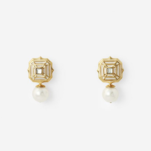Modern Indian Pearl Jewelry On trend - Earrings - White Hampi Pearl Drop Earring