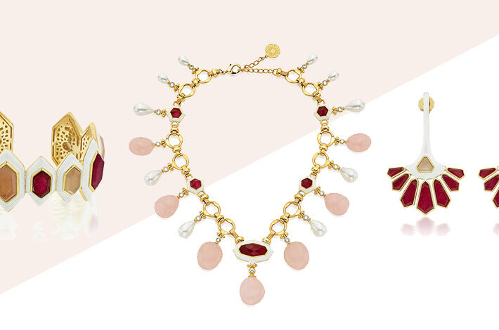 Modern Indian Jewelry Valentine's Day - Isharya - Borderless Collection