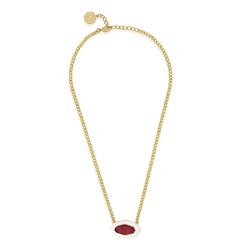 Modern Indian Jewelry Valentine's Day - Isharya - Borderless Pendant Pink Quartz Necklace