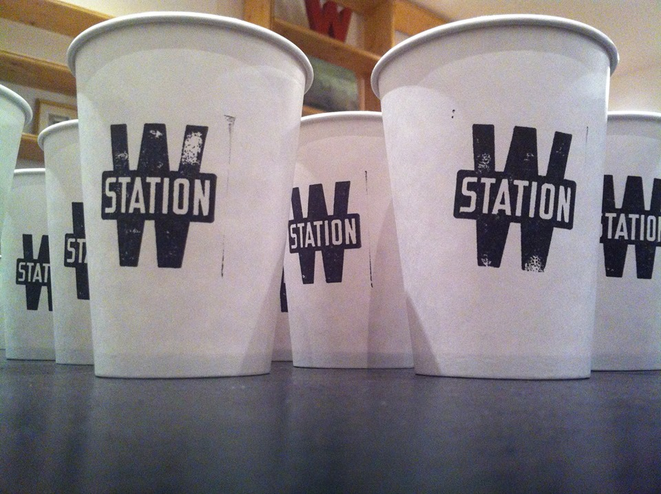 Station W coffee cups