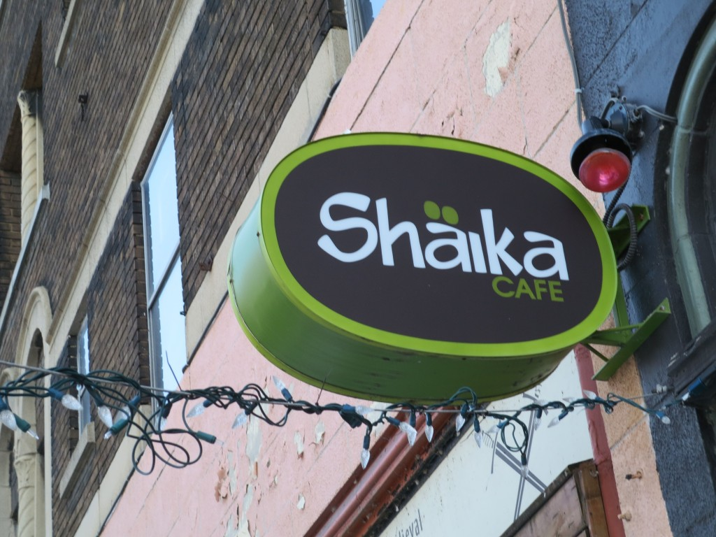 Shaika Cafe sign. Photo Rachel Levine