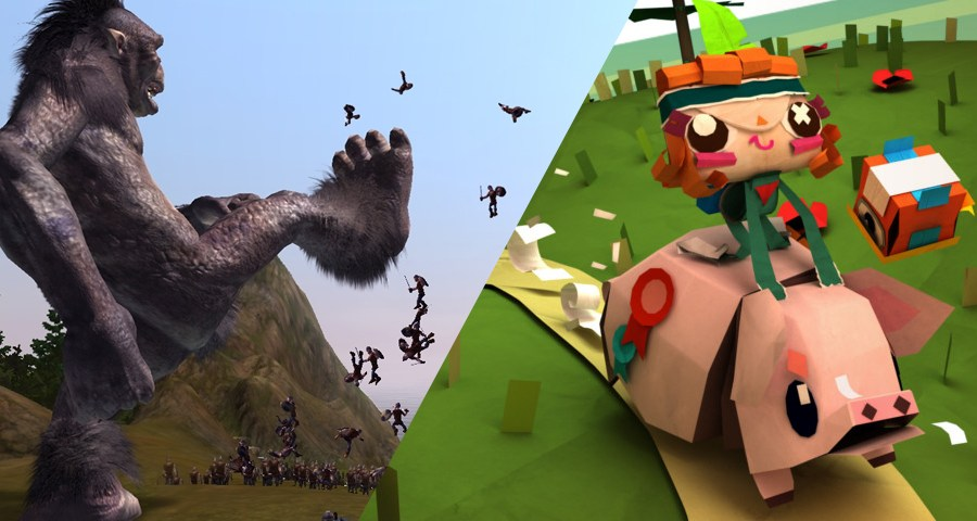 Just two of the notable games from Guildford: Lionhead's Black and White and Media Molecule's Tearaway