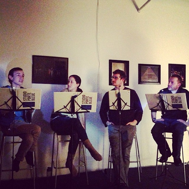 New Playwrights Reading Series. Studio Porte Bleue. Photo Colin Lalonde.
