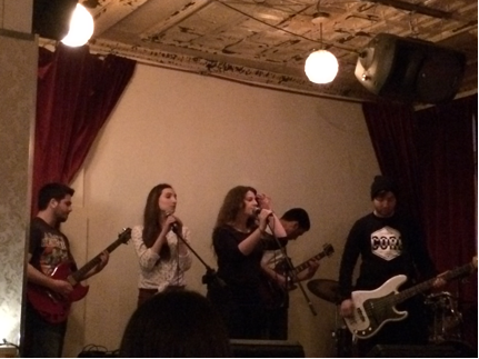 Broken Crowns performing on April 5th, 2014 for Yiara Magazine's second issue launch. Photo Althea Thompson.