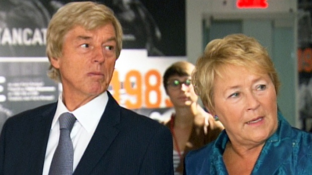 Claude Blanchet and Pauline Marois