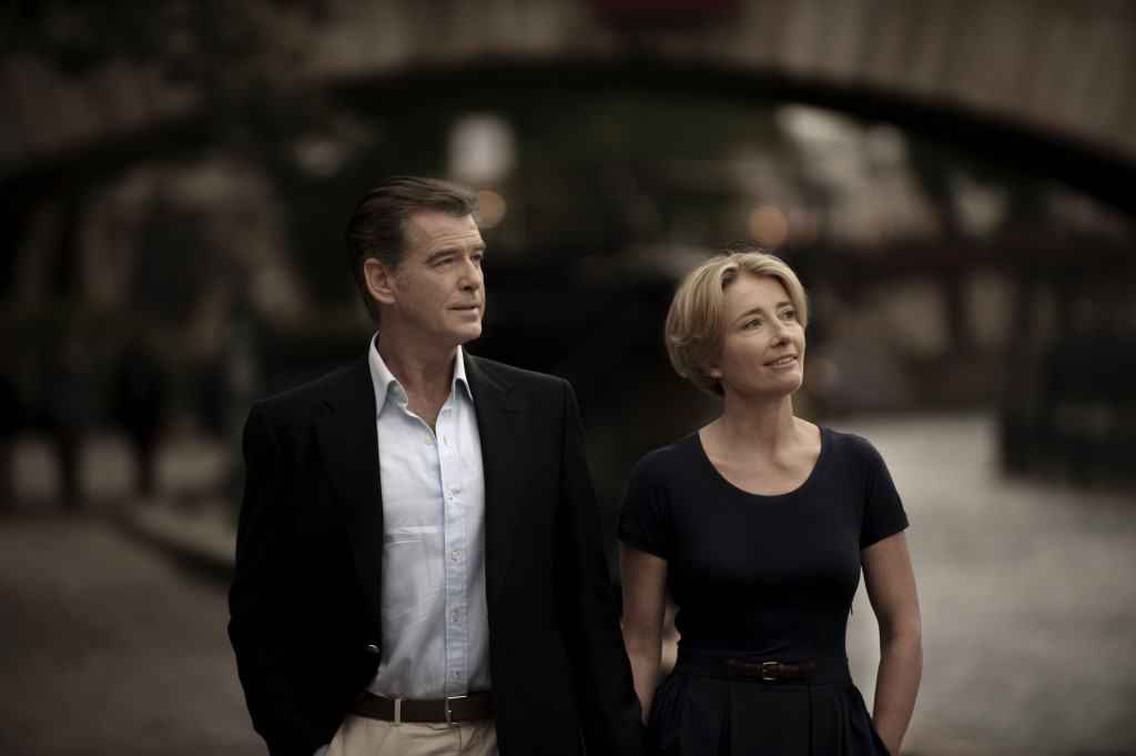 The Love Punch. Emma Thompson and Pierce Brosnan.