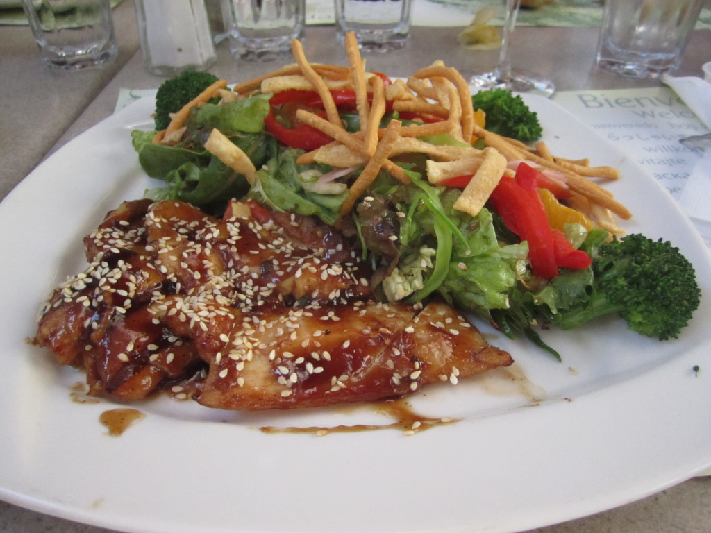 Asian Salad with Chicken. Jardin Nelson. Photo Esther Szeben