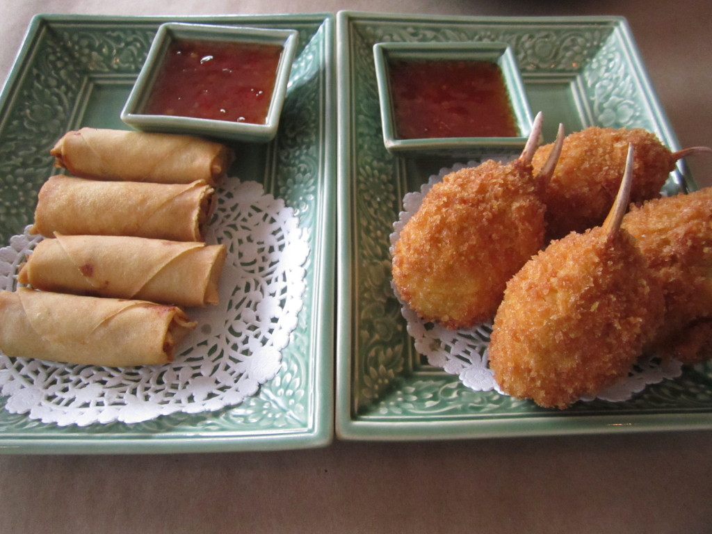 Kam Pou Sawan and Imperial Rolls. Photo Esther Szeben.
