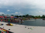 Dragon Boat Races at Jean Drapeau July 2014. Photo by Annie Shreeve