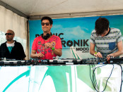 DJ Begun (right) joins DJ Pfreud (middle and DJ GD (left). Photo Mert Kimyaci.