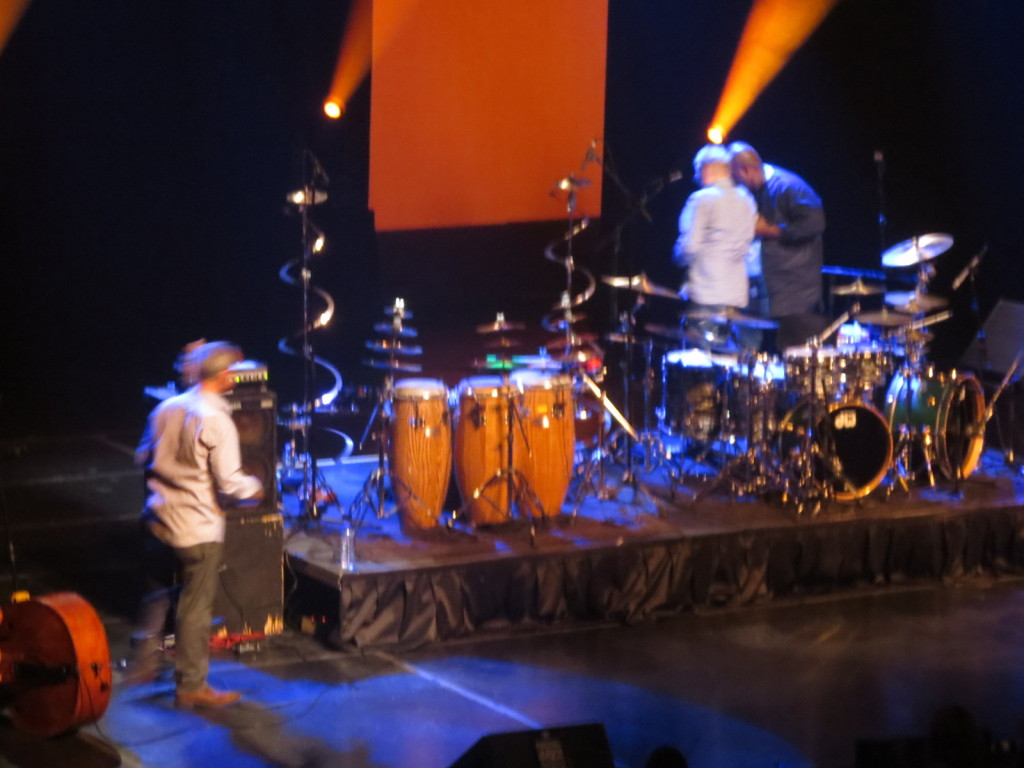Dodoo helps Baker off stage. MOntreal Jazz Fest