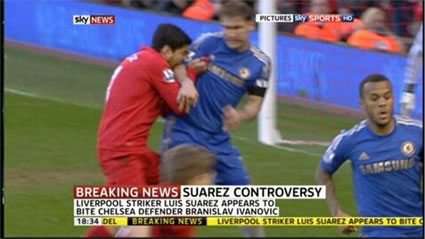 suarez bite sky news