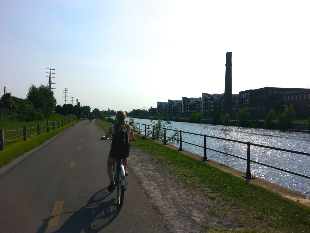 Cycling along the waterfront. Photo by Annie Shreeve