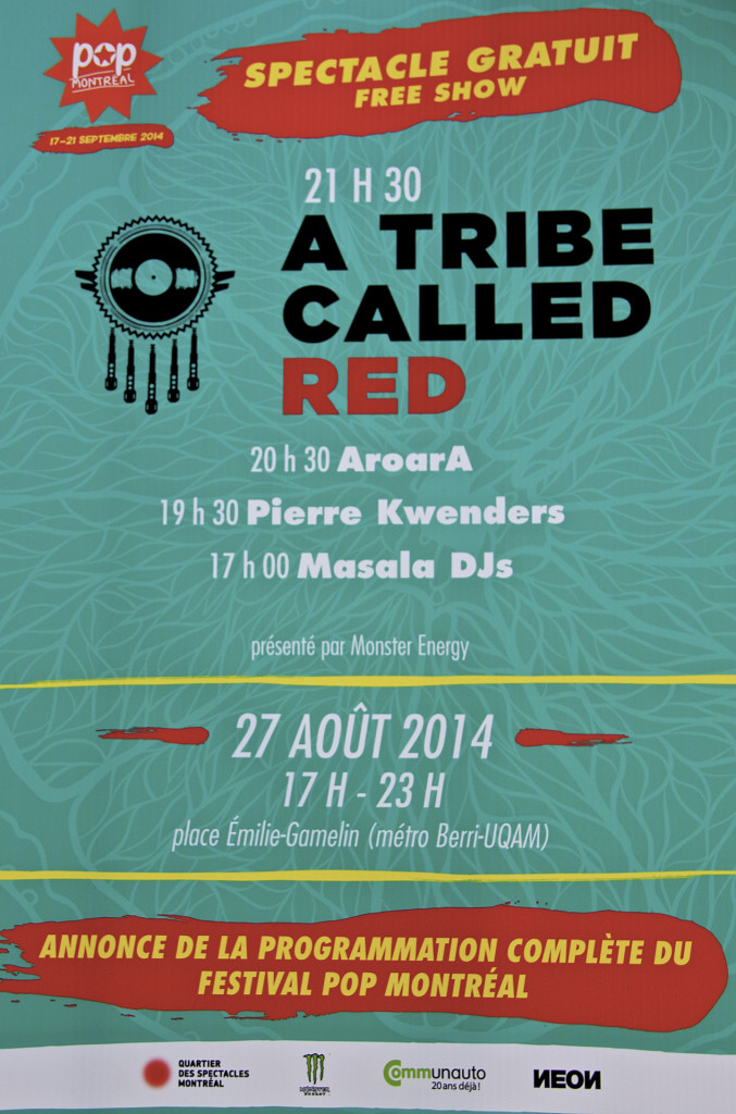 Poster for A Tribe Called Red. Photo Michael Bakouch.