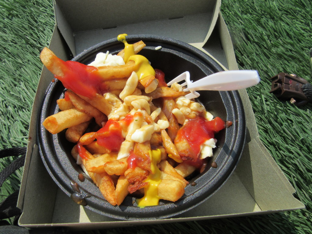 Poutine at Osheaga Festival, Montreal. Photo By Robyn Homeniuk.