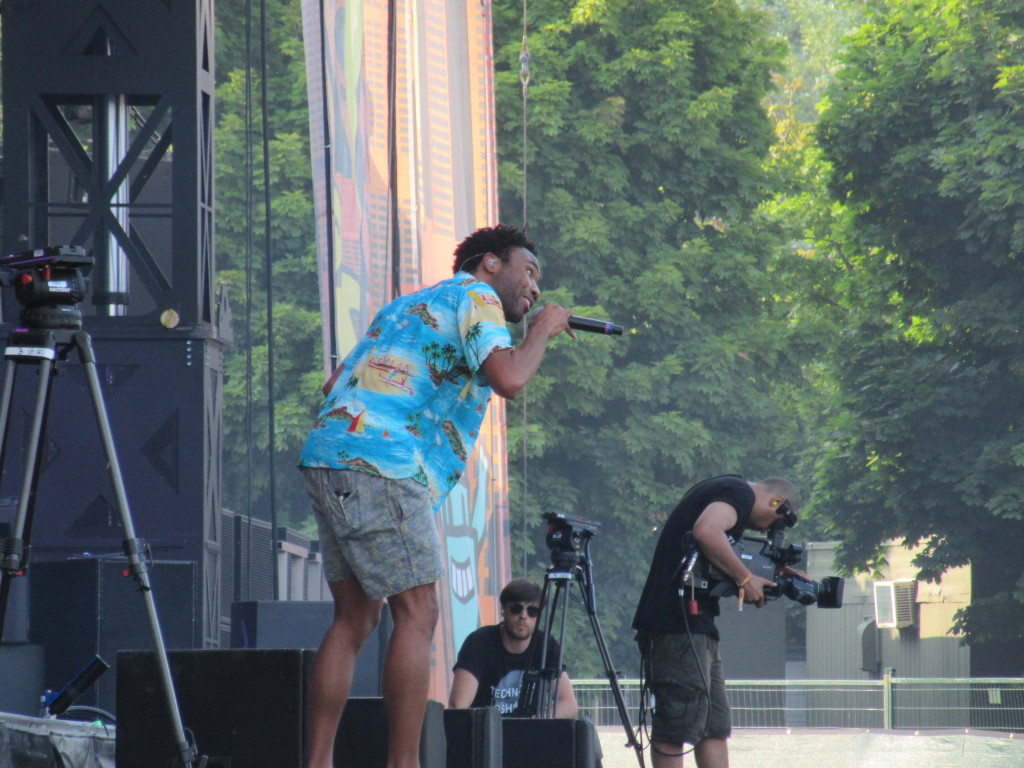 Childish Gambino at Osheaga Festival, Montreal. Photo By Robyn Homeniuk.