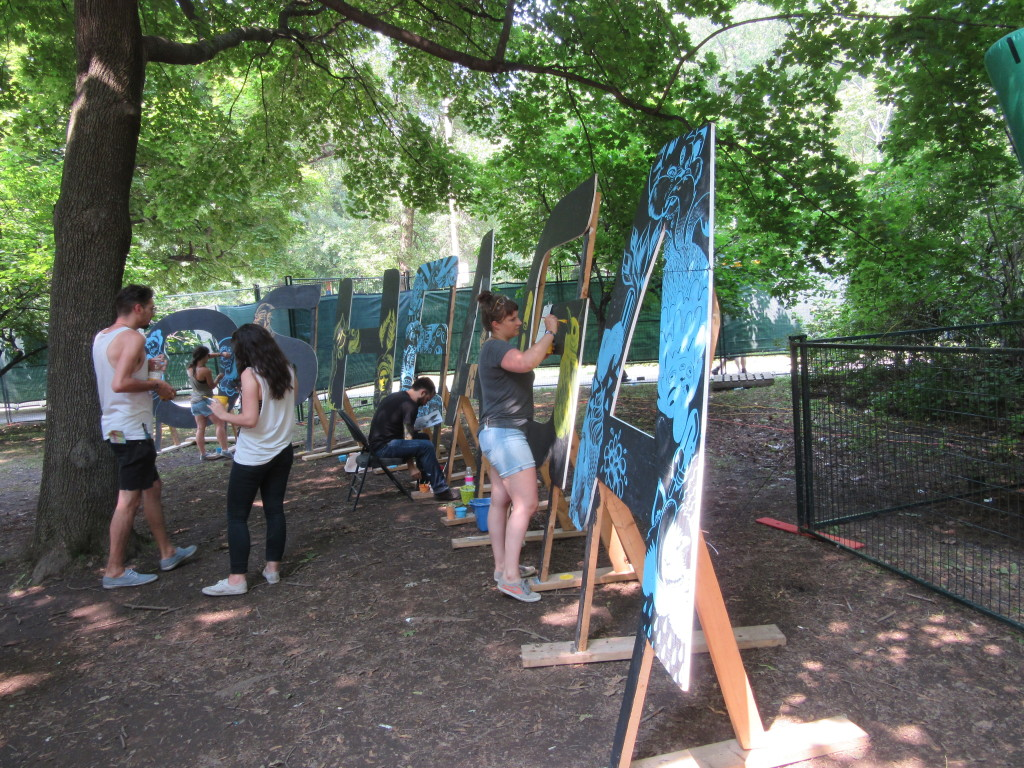 Artists at Osheaga Festival, Montreal. Photo By Robyn Homeniuk.