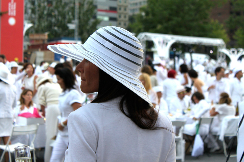 Lady in white hat. Photo by Annie Shreeve