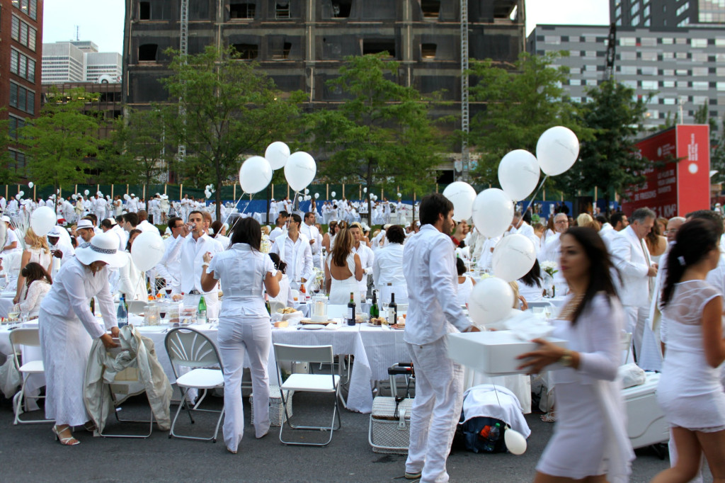 Preparing for Diner en Blanc. Photo by Annie Shreeve