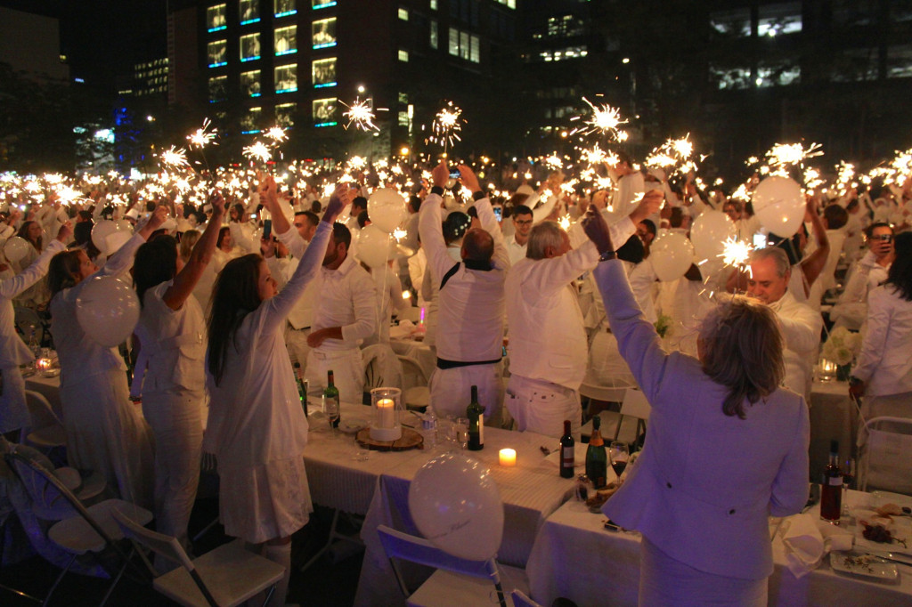 Sparklers! Diner en Blanc 2014. Photo by Annie Shreeve