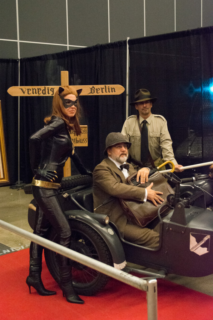 Catwoman and Indiana Jones. Montreal Comiccon. Photo Jean Frederic Vachon.