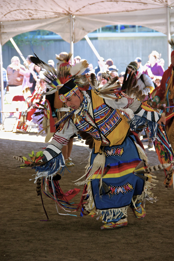 Dancer. McGill Pow Wow. PHoto Michael Backouch.