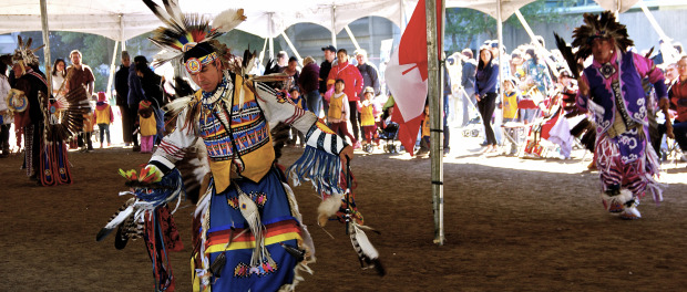 Dancer. McGill Pow Wow 2014. Photo Michael Bakouch.
