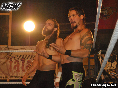 justin turnbull and oliver strange. Wrestling in Montreal. NCW.