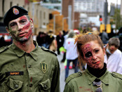 Military Zombie. Zombie Walk. Montreal. Photo Michael Bakouch.