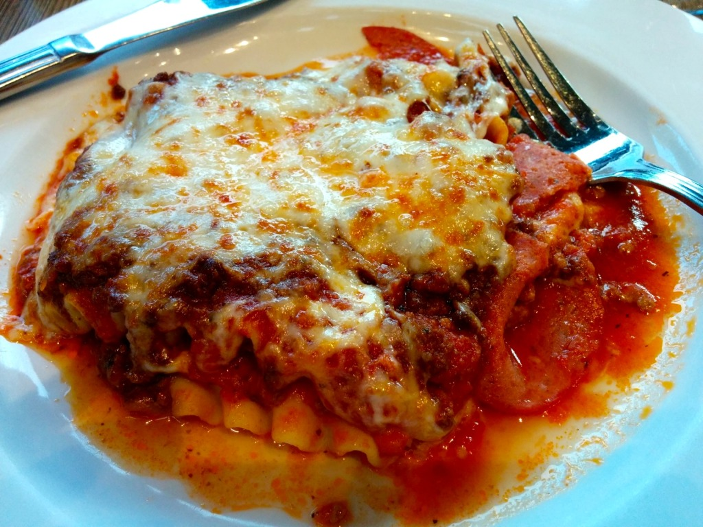 Lasagne at Magnan's . Photo by Esther Szeben