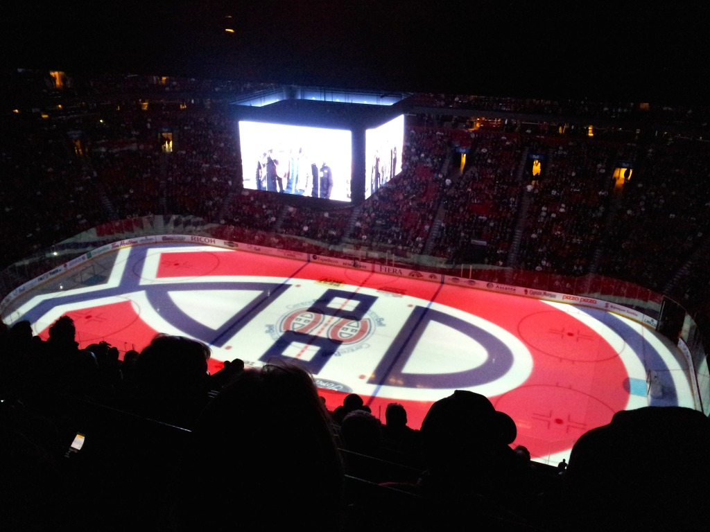 Montreal Canadiens at the Bell Centre. Photo by Annie Shreeve
