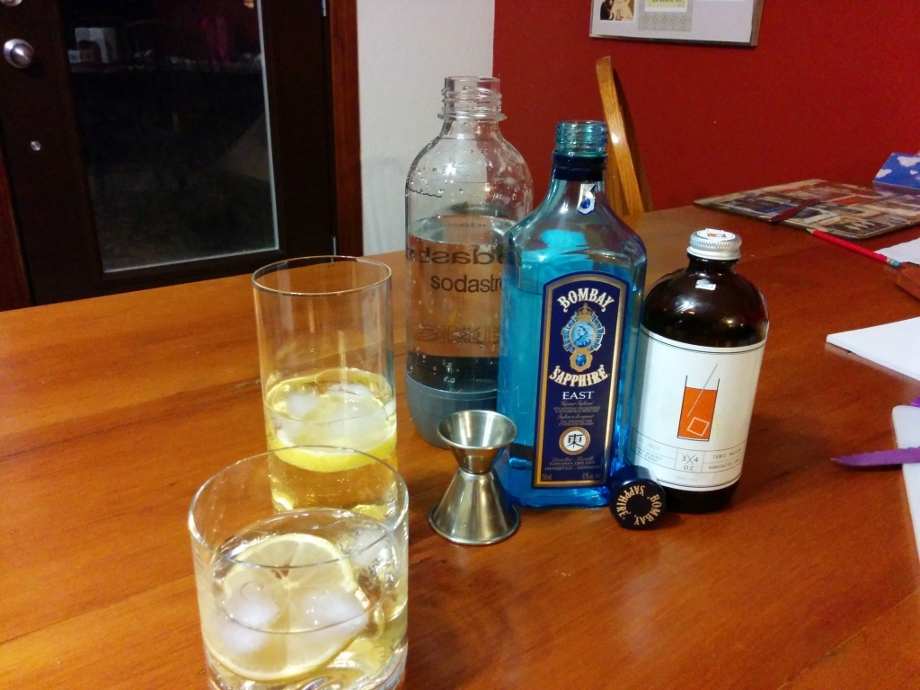 Gin and Tonic at home with Tonic 3/4. Photo Esther Szeben