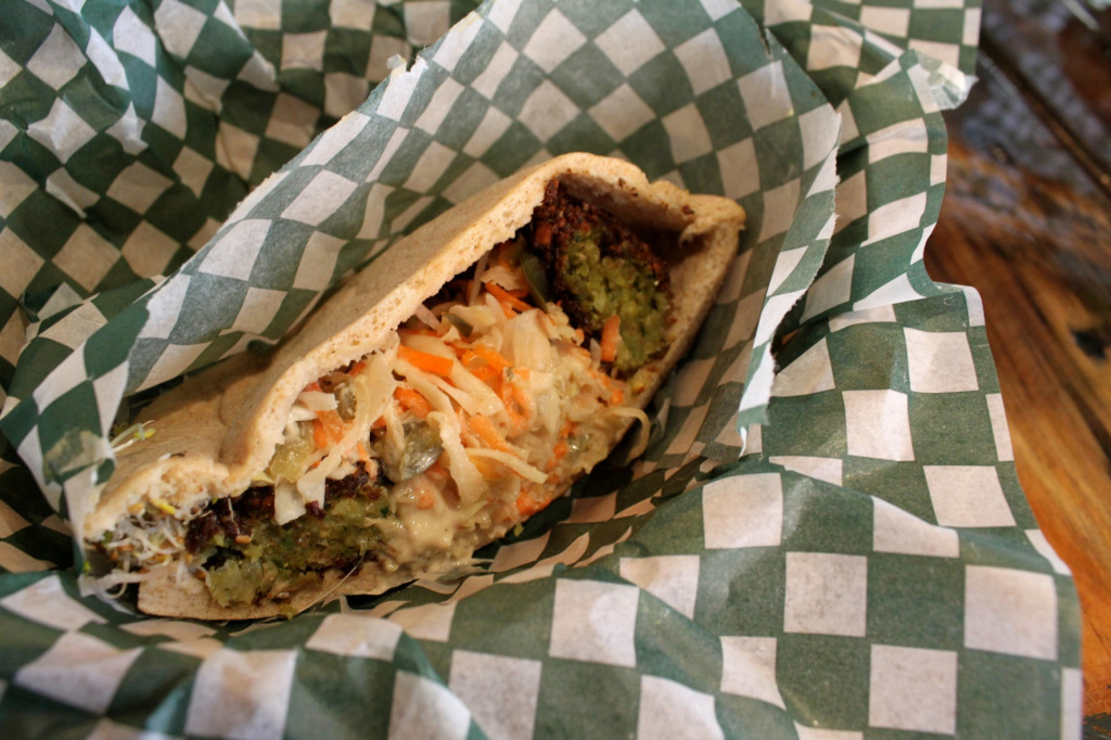 Felafel Pita from The Green Panther. Photo by Annie Shreeve