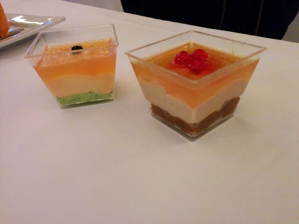 Salmon or Foie Gras Verrine. Photo Esther Szeben.